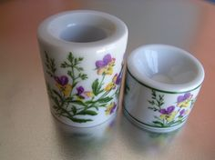 SALE Vintage W Germany set 2 porcelain candle by HuntWithJoy