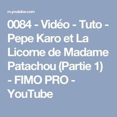 0084 - Vidéo - Tuto - Pepe Karo et La Licorne de Madame Patachou (Partie 1) - FIMO PRO - YouTube