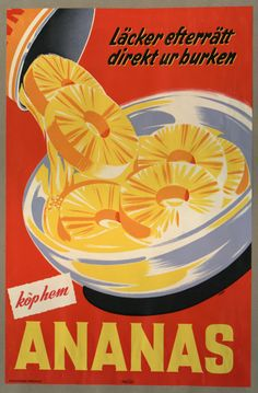 vintage Ananas tinned pineapple advertisement