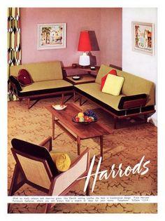 1960s furniture.