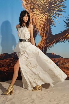 ROBERTO CAVALLI: Simple yet glamorous, a white dress from Roberto Cavalli's resort 2016 collection could also double as a wedding gown.