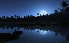 free images of romance Night Sea, Beach At Night, Dark Night, Beautiful Landscape Wallpaper, Beautiful Landscapes, Tender Is The Night, Images Gif, Quotes Images, Romance