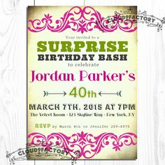 80th birthday party invitation wording party ideas for kids surprise 60th birthday invitation wording filmwisefo Image collections
