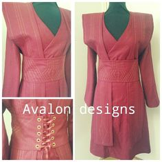 Avalon designs custom order Sith robe costume. Made of 100% linen and decorated with  gold thread. Want your cosplay character come to life? We make cosplay,larp,reenactment,bridal and many other themed costumes!