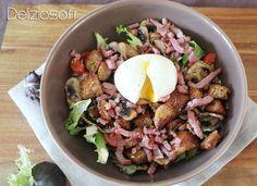 Salade paysanne légère et oeuf mollet - 340 Calories - Délizioso