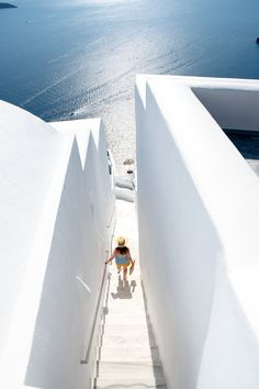 White steps to blue, Santorini, Greece