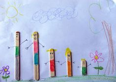 Popsicle Stick Families