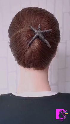 Hairdo For Long Hair, Bun Hairstyles For Long Hair, Braided Hairstyles, Hair Tutorials For Medium Hair, Braid Accessories, Hair Up Styles, Hair Videos, Hair Designs, Hair Hacks