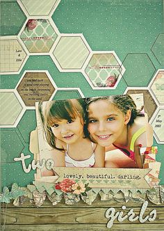 #papercraft #scrapbook #layout. Sandy's Space: Playing with Hexagons