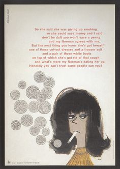 British Government anti-smoking poster (1960s)