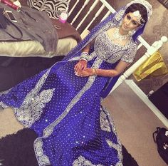 Silver & Blue Asian Indian Fashion