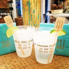Cocktails anyone? Festive new cups cocktails stirrers and napkins will make your Island happy hour even happier! #tfssi #stsimonsisland #seaisland #cocktails #party #lovewhereyoulive