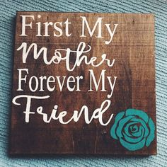 First My Mother Forever My Friend wood canvas art by TheElsaShop