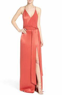 Halston Heritage Satin Gown