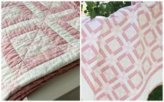 quilt from my mom pink