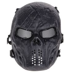 Airsoft Paintball Full Face Protection Skull Mask Army Games Outdoor Metal mesh eye shield costume