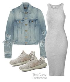 """""""Untitled #725"""" by thecurvyfashionistaa ❤ liked on Polyvore featuring Yves Saint Laurent, Glamorous and adidas Originals"""