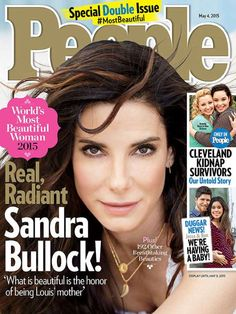 """People named Sandra Bullock the """"World's Most Beautiful Woman"""" for 2015, and no one was more surprised than the actress herself. """"No, really. I just said, 'That's ridiculous,'"""" she says. """"I've told no one."""" The news was announced on NBC's Today.  What does beauty mean to the 50-year-old mom of 5-year-old son Louis Bullock?  SEE ANSWER ON THIS BOARD"""