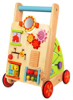 NEW First Activity Walker - Sustainable Eco-Friendly Wooden Kids Toys Toddler Toys, Baby Toys, Kids Toys, Christmas Gift Guide, Christmas Gifts, Learning Clock, Push Toys, Wooden Wheel, Montessori Toys