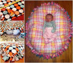 No Sew Floor Pillow #crafts, #sew, #no-sew, #pillow