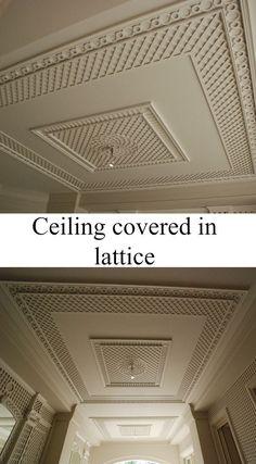 Treillage on lattice with decorative frises.