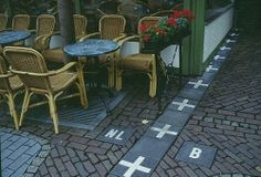 The border between Belgium and the Netherlands