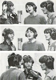 john lennon, paul mccartney, and george harrison