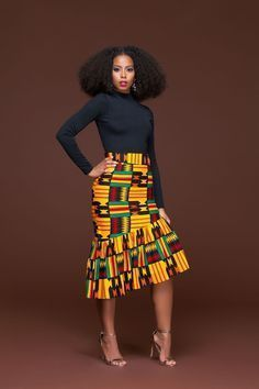 In Autumn the leaves drop, in the African Print Ren Pencil Skirt, jaws will. We'll apologise in advance for the envy you're going to generate, not only for wearing the African print Ren Pencil skirt, but for owning it. This piece is set to be the go to pe African Print Skirt, African Print Dresses, African Wear, African Attire, African Fashion Dresses, African Dress, African Style, African Prints, Ghanaian Fashion