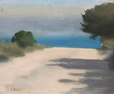 Clarice Beckett White Road, Anglesea (Anglesea is a coastal town in Victoria, Australia). Australian Painting, Australian Artists, Seascape Paintings, Landscape Paintings, Watercolor Landscape, Abstract Landscape, Illustrations, Illustration Art, Sea Art