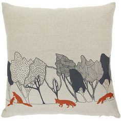 """Orwell and Goode Day Woods: Rust Fox Cushion - 18"""""""