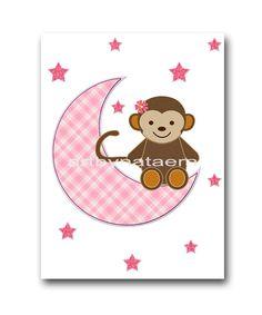 INSTANT DOWNLOAD Art Monkey Nursery Printable by nataeradownload