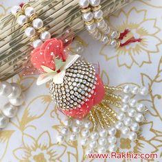 Attractive Lumba Rakhi For Bhabhi Send Rakhi To India, Buy Rakhi Online, Handmade Rakhi Designs, Saree Tassels Designs, Diy Storage Boxes, Diwali Decorations, Online Gifts, Diy And Crafts, Wedding Gifts