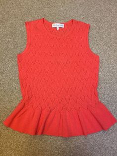 EDINA RONAY London Ladies Tank Top jumper Size L BNWOT Coral