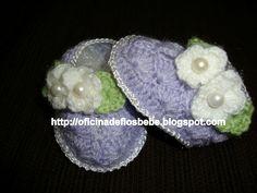 La Ingresos Crochet: Botines del bebé en croche