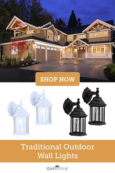 Bring an alluring design to your home's exterior with a 2 pack of Canarm one-light wall lantern light fixtures. A crisp white or black finish and clear beveled glass panels makes these lights a great accent. The design on the glass panels adds a charming element to the fixtures. Install these downlight outdoor lanterns by your front or back entryway or on either side of the garage. It can also serve as an accent for your porch, deck area, patio, or balcony.