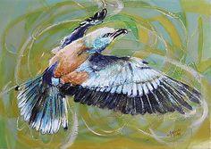Original modern art Painting on Canvas The European robin-Wild Europe II. European Robin, Modern Art Paintings, Bird, The Originals, Canvas, Animals, Vintage, Etsy, Tela