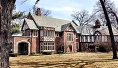 """The Everitt House, aka """"the old mansion,"""" at Amberley Woods in Lake Forest."""