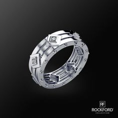 Very fine yet very bold. MOSS Gold Mens Wedding Band.   SHOP at Rockfordcollection.com  Worldwide Shipping
