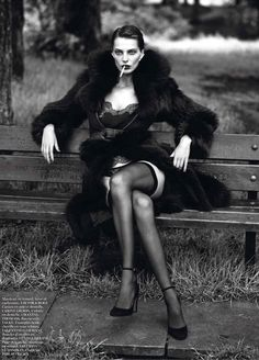 Daria Werbowy | Mert & Marcus | Vogue Paris September 2012 | 'LeNoir'