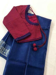 Discover thousands of images about Latika Arefin Tupur Hand Work Blouse Design, Simple Blouse Designs, Stylish Blouse Design, Saree Blouse Neck Designs, Designer Blouse Patterns, Designer Wear, Blouse Desings, Kerala Saree, Telugu Wedding