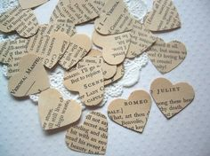 Vintage Romeo and Juliet Confetti for weddings or parties!