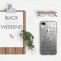 Black Friday Sale Flatlay - iPhone 7 Plus with Ringke Air Prism Case Design