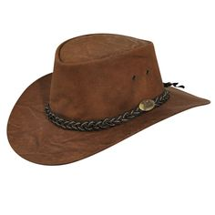 Imagine gazing out onto the hot plains of Australia from under the brim of the perfect outback hat, watching the wild kangaroos and dingoes move swiftly along the horizon. Made with genuine kangaroo leather, the Jacaru Kangaroo Outback Hat has a four eyel Vintage Fashion 1950s, Vintage Hats, Victorian Fashion, Leather Cowboy Hats, Southern Outfits, Cool Hats, Hats For Men, Women Hats, Braided Leather
