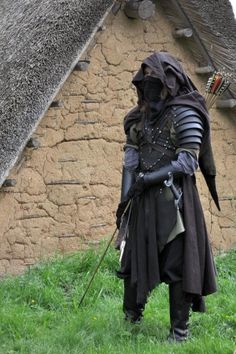 A little larp-y for any board, but interesting elements for the apocalypse. Fantasy Male, Fantasy Armor, Armor Clothing, Medieval Clothing, Medieval Outfits, Medieval Fashion, Medieval Armor, Medieval Fantasy, Medieval Party