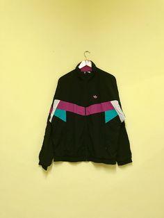 348a399d883 Vintage Adidas Multicolor windbreaker jacket style fashion OG Lolife Sz M