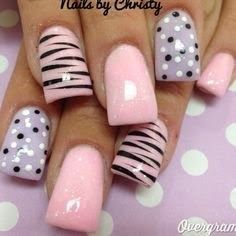 Generally, people thought nail art can be possible on long nails But actually, it's not so! Simple nail art designs for short nails are not only popular Get Nails, Fancy Nails, Love Nails, Trendy Nails, Pink Nails, Pink Shellac, Girls Nails, Fabulous Nails, Gorgeous Nails