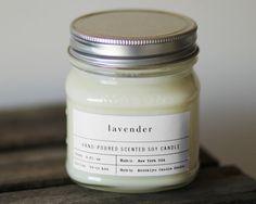 Choose A Mason Jar Candle or Set 100 Soy by BrooklynCandleStudio