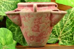 This is a wonderful example of a unqiue Burley Winter Strawberry Hanging pot. The vellum feels nice and thick with a perfect blend of gray and purple. Really great hanging pot that is ready to display. Strawberry Pots, Zanesville Ohio, Hanging Pots, 1920s, Pottery, Gray, Purple, Antiques, Winter