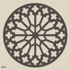 The balance of the same pattern all the way around the circumference makes it appear centred Stencils, Stencil Art, Plasma Cutter Art, Gothic Windows, Rose Window, Arabic Pattern, 3d Laser, Stencil Patterns, Scroll Saw Patterns
