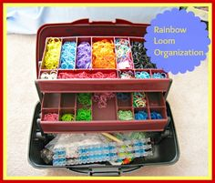 Use a tackle box to organize rainbow loom supplies!